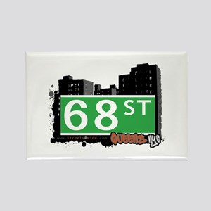 68 STREET, QUEENS, NYC Rectangle Magnet