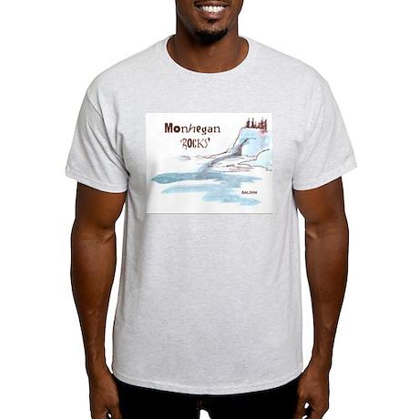 """Monhegan ROCKS"" Ash Grey T-Shirt reduced"
