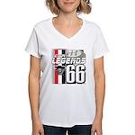 1966 Musclecars Women's V-Neck T-Shirt