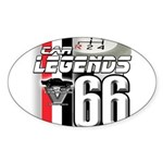 1966 Musclecars Oval Sticker (50 pk)