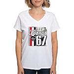 1967 Musclecars Women's V-Neck T-Shirt