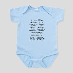 Say it in Yiddish! Infant Bodysuit