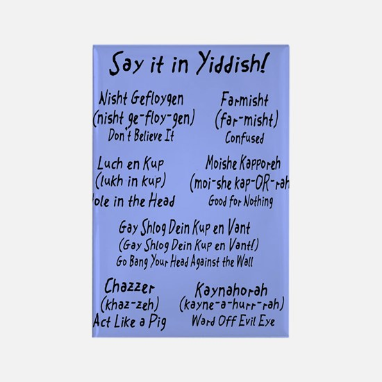 Say it in Yiddish! Rectangle Magnet