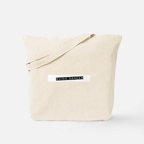 Punch Label Swing Dancer Blac Tote Bag
