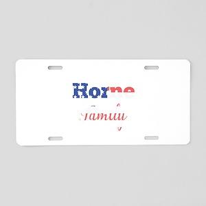 Horne Family Aluminum License Plate