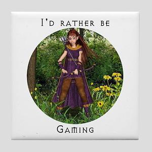 I'd rather be gaming Tile Coaster