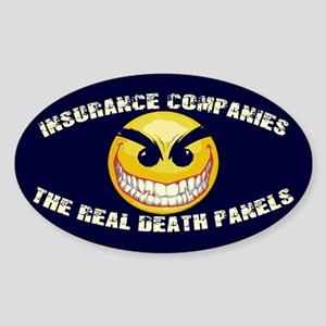 Healthcare Death Panels Oval Sticker