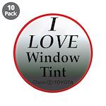 """Dark Window Tint 3.5"""" Button (10 pack)"""