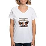 The Three Stoopids Women's V-Neck T-Shirt