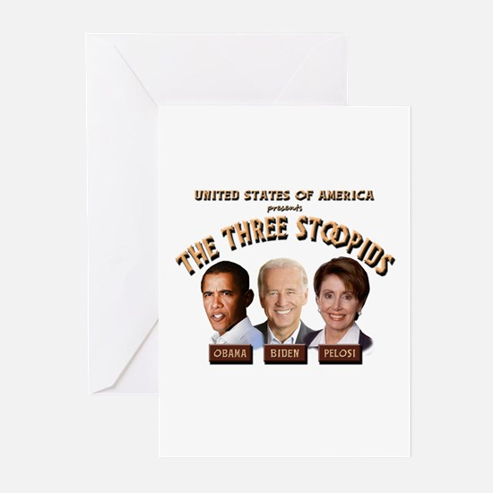 The Three Stoopids Greeting Cards (Pk of 10)