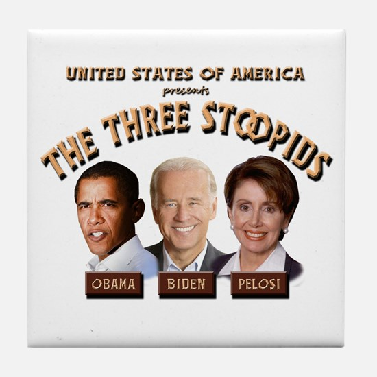 The Three Stoopids Tile Coaster