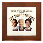 The Three Stoopids Framed Tile