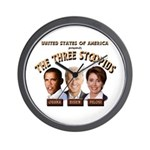 The Three Stoopids Wall Clock