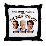 The Three Stoopids Throw Pillow