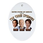 The Three Stoopids Oval Ornament