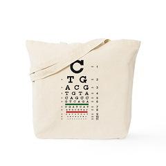DNA bases eye chart tote bag