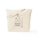 Hieroglyphs eye chart tote bag