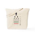 Dominoes eye chart tote bag