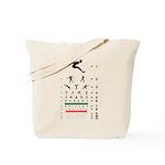 Sports figures eye chart tote bag
