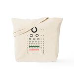 Landolt C eye chart tote bag