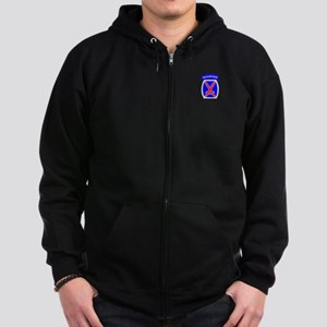 10th Mountain Division Zip Hoodie (dark)