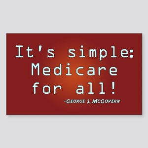 It's Simple, Medicare for All Rectangle Sticker