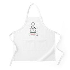 Abstract symbols eye chart BBQ apron #1