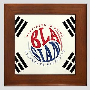 Blasians Taegeuk Flag 1 Framed Tile