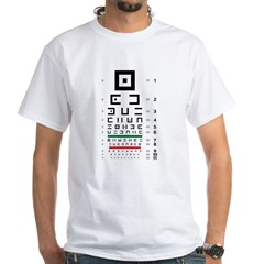 Abstract symbols eye chart white T-shirt #2