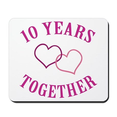 10th Anniversary Two Hearts Mousepad