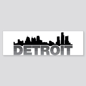 Detroit Skyline Bumper Sticker