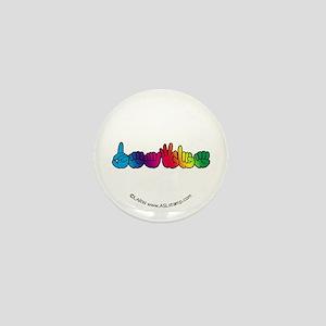 Rainbow DEAFIE Mini Button