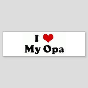I Love My Opa Bumper Sticker
