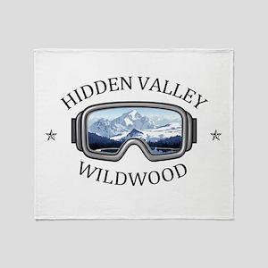 Hidden Valley Ski Area - Wildwood Throw Blanket
