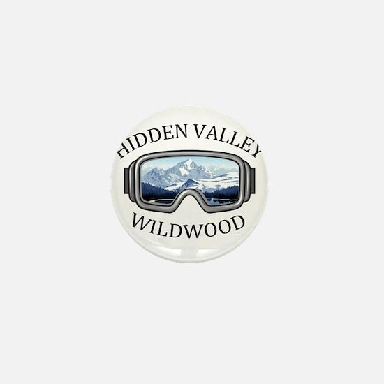 Hidden Valley Ski Area - Wildwood - Mini Button