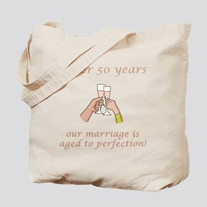 50th Anniversary Wine glasses Tote Bag