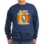 Firefighter Skull and Flames Sweatshirt (dark)