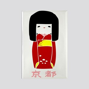 """""""Japanese Kyoto Doll"""" Rectangle Magnet"""