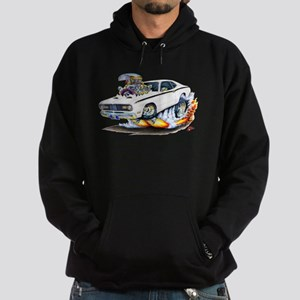 Duster White Car Hoodie (dark)