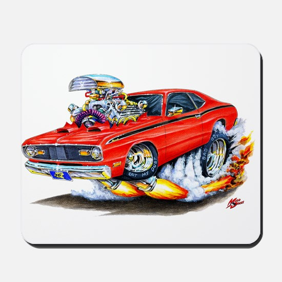 Duster Red Car Mousepad