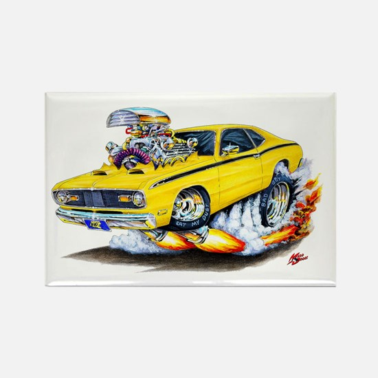 Duster Yellow Car Rectangle Magnet