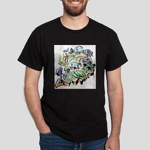Indiana Map Dark T-Shirt