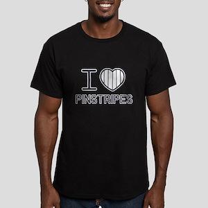 I Love Pinstripes Men's Fitted T-Shirt (dark)