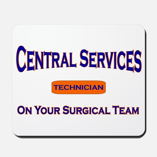 Central Services Blue Mousepad
