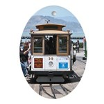 SF Cable Car - Holiday Ornament Oval