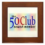 The 50 Club Framed Tile