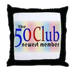 The 50 Club Throw Pillow
