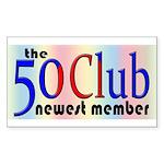 The 50 Club Rectangle Sticker
