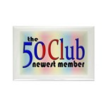 The 50 Club Rectangle Magnet (10 pack)