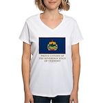 Vermont Proud Citizen Women's V-Neck T-Shirt